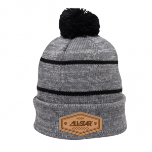 ALL-STAR WINTER HAT - HEX PATCH - BLACK & GREY