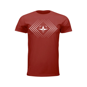 ALL-STAR PLATE LOGO TEE, CARDINAL