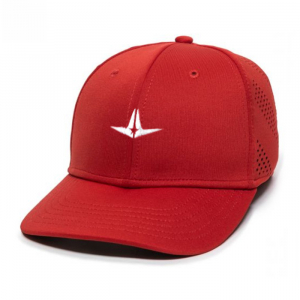 ALL-STAR FLEX FIT LOGO HAT-SCARLET-LARGE/EXTRA LARGE