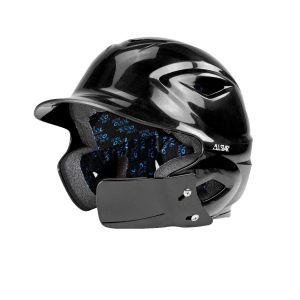 S7™ BATTING HELMET W/ATTACHED JAWLINE™-Right Handed Batter-BLACK