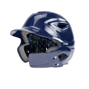 S7™ YOUTH BATTING HELMET W/ATTACHED JAWLINE™-Right Handed Batter-NAVY