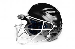 S7™ ADULT BATTING HELMET W/ATTACHED CAGE-BLACK