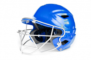 S7™ ADULT BATTING HELMET W/ATTACHED CAGE-ROYAL
