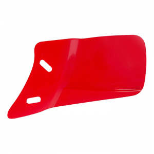 JAWLINE™ GLOSS- BATTING HELMET FACEGUARD-Right Handed Batter-SCARLET