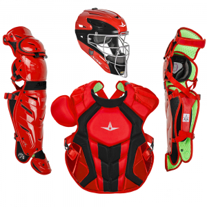 S7 AXIS™ TWO TONE ADULT CATCHING KIT // MEETS NOCSAE-SCARLET/BLACK