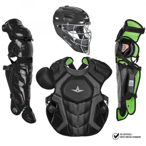 S7 AXIS™ ADULT CATCHING KIT, SOLID COLOR // MEETS NOCSAE-BLACK