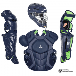 S7 AXIS™ ADULT CATCHING KIT, SOLID COLOR // MEETS NOCSAE-NAVY