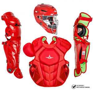 S7 AXIS™ ADULT CATCHING KIT, SOLID COLOR // MEETS NOCSAE-SCARLET