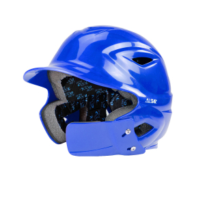 S7™ YOUTH BATTING HELMET W/ATTACHED JAWLINE™-Right Handed Batter-ROYAL