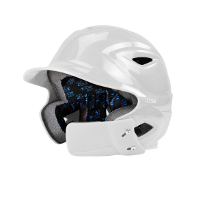 S7™ YOUTH BATTING HELMET W/ATTACHED JAWLINE™-Right Handed Batter-WHITE