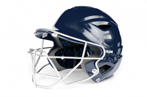 S7™ YOUTH BATTING HELMET W/ATTACHED CAGE-NAVY