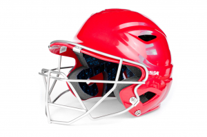 S7™ YOUTH BATTING HELMET W/ATTACHED CAGE-SCARLET