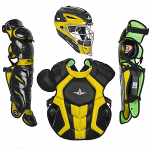 S7 AXIS™ TWO TONE ADULT CATCHING KIT // MEETS NOCSAE-BLACK/GOLD