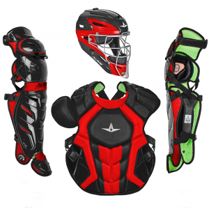 S7 AXIS™ TWO TONE ADULT CATCHING KIT // MEETS NOCSAE-BLACK/SCARLET