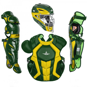 S7 AXIS™ TWO TONE ADULT CATCHING KIT // MEETS NOCSAE-DARK GREEN/GOLD