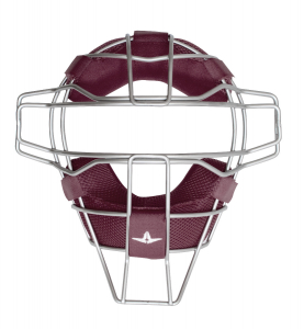 TITANIUM TRADITIONAL FACE MASK W/ LUC PADS -MAROON