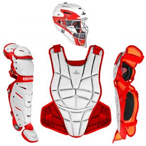 AFx FASTPITCH CATCHING KIT - WHITE / SCARLET
